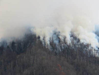 Wildfires in Great Smoky Mountains National Park