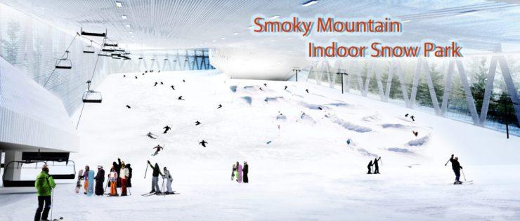 Smoky Mountain indoor snow tubing!