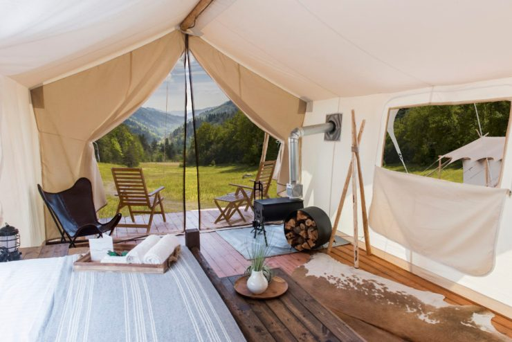 Under the Canvas Smoky Mountain Glamping is the epitome of luxury!