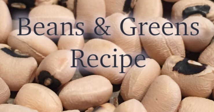 New Year beans and greens recipe.