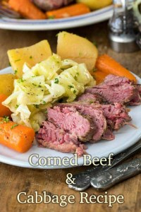 Corned beef & cabbage recipe. Photo credit - spendwithpennies.com