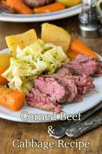 Corned beef & cabbage recipe. Photo credit - spendwithpennies.com