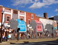 Martinsville Circus Parade mural.
