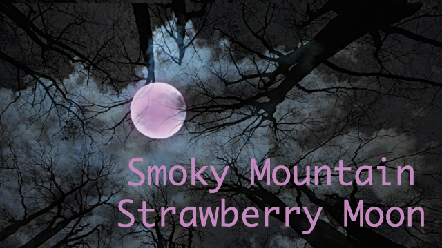 Smoky Mountain Strawberry Moon, when and where to view it! on HeySmokies.com.