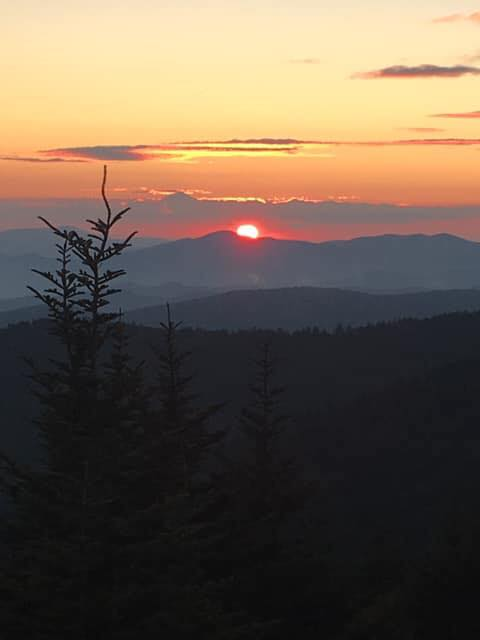 This Smoky Mountain sunset was Michael's inspiration.This Smoky Mountain sunset was Michael's inspiration.
