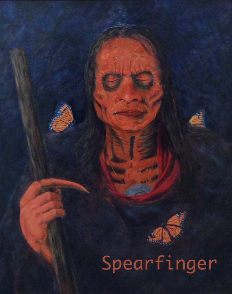 The Cherokee legend of Spearfinger is cursed with constant hunger. Photo credit - Goodman Darkness