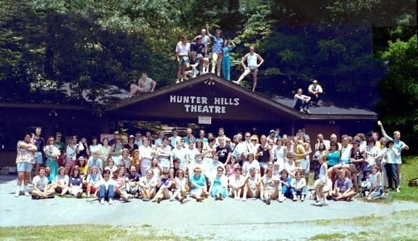 Hunter Hills theater cast in Gatlinburg.