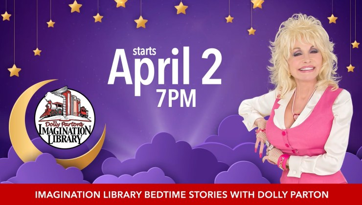 Dolly Parton's Imagination Library reading group is scheduled to begin April 2, 2020.
