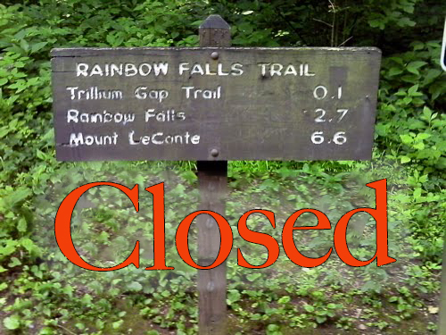 Rainbow fall trail closes in Great Smoky Mountain National Park