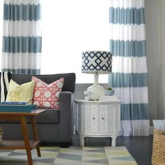 How To Make Living Room Curtains Discount Table Lamps For Diy Grommet Top Using Shower
