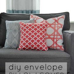 Pillow Covers For Living Room Modern Design Ideas 2016 How To Make An Envelope Cover