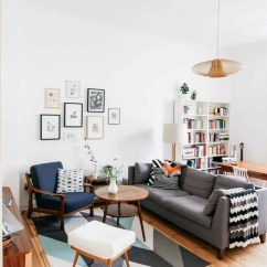 How To Make Mismatched Living Room Furniture Work Window Curtains For India 4 Practical Tips That Will Have You Mixing Decor Styles With Confidence Open Concept Is Separated By The Sofa Visual Weight Of Book Shelf In Dining Area Balanced Wall Art