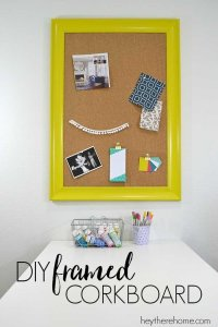 DIY Framed Corkboard for the Office