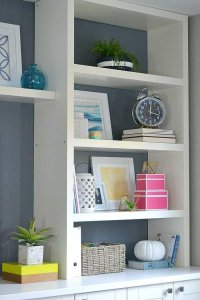 DIY built-in using IKEA cabinets and shelves
