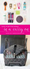 Travel Tips for Packing in a Carry On