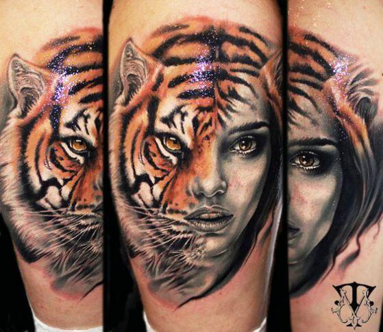 Sorprendentes Tatuajes Realistas En 3d Biomecanicos Rostros