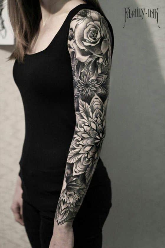 Tatuajes de flores distintos diseos hombresmujeres y sus significados