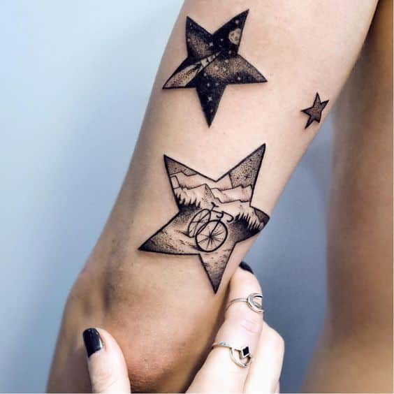 50 Tatuajes De Estrellas Significados Y Diseños Para Hombres Y Mujeres