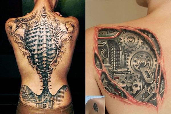 Tatuajes Biomecánicos Con Increibles Efectos 3d Mujeres Y Hombres