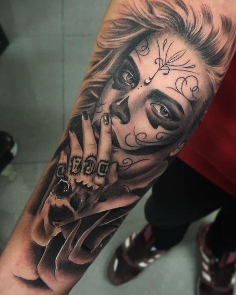 Tatuajes De Catrinas Diseños Significados Y Su Representación