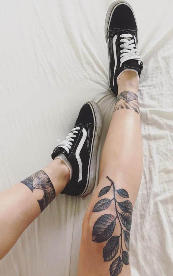 80 Tatuajes En Las Piernas Para Hombres Y Mujeres Tribales Delicados