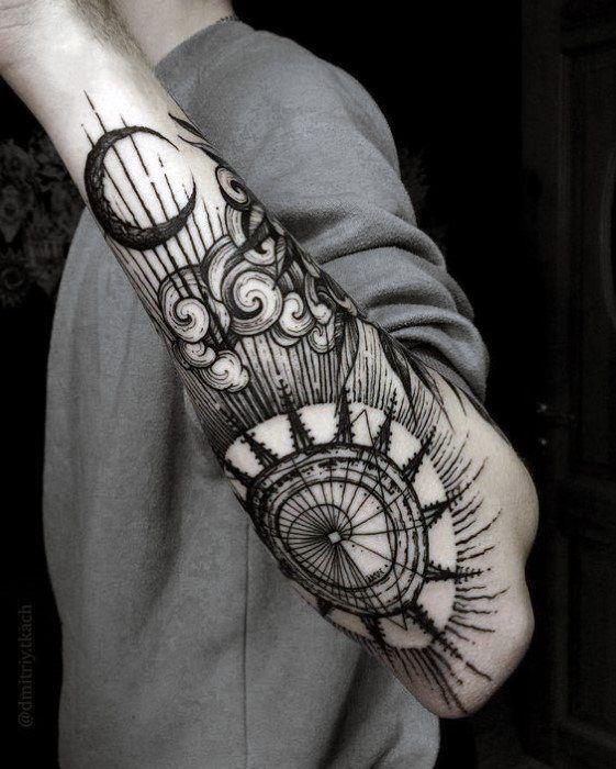 Tatuajes De Sol Y Luna 80 Diseños Para Hombres Mujeres Y Parejas