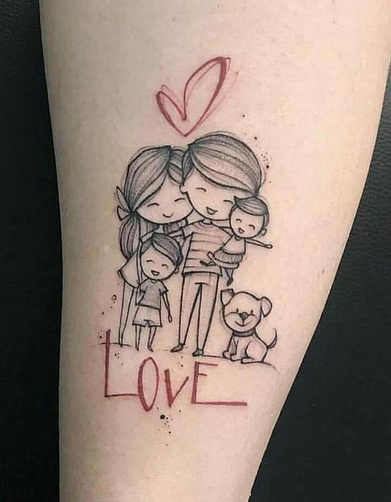 Tatuajes De Familia De 5 Para Hombres