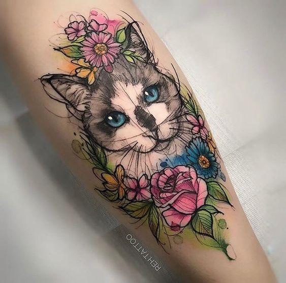 Tatuajes De Gatos Diseños Y Significados De Este Misteriosos