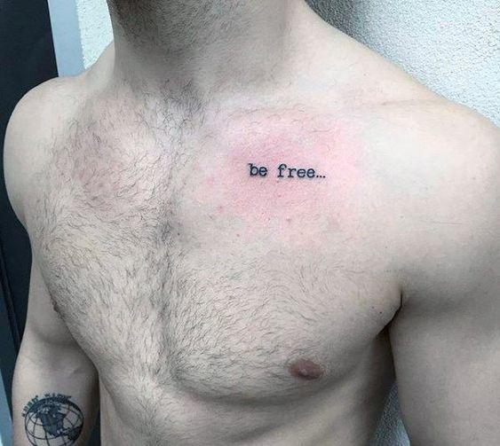 Tatuajes En El Pecho Diseños Con Letras Nombres Hombre Mujer