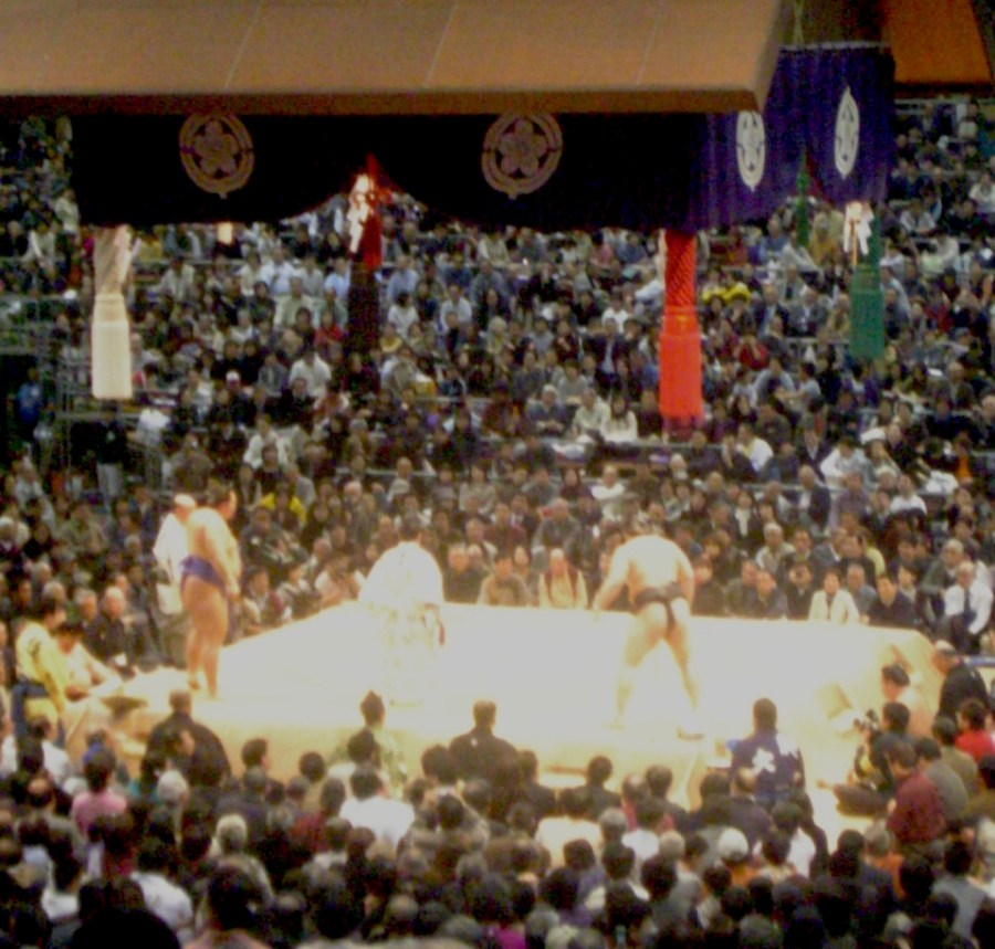 Sumo Match in Fukuoka, Japan