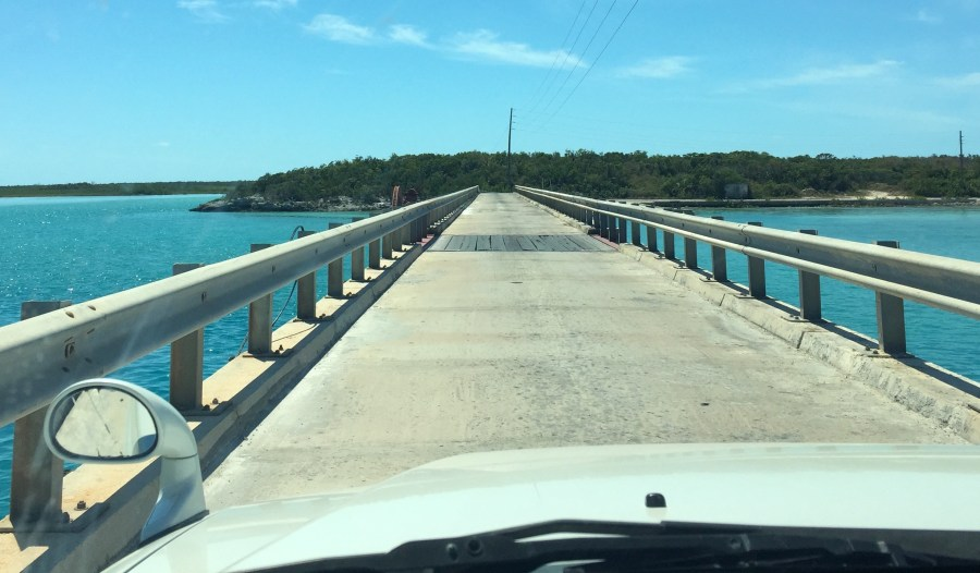 The birdge you cross to get to Santanas in Great Exuma