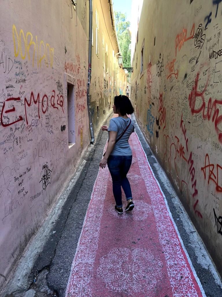 magic carpet street in Zagreb, Croatia