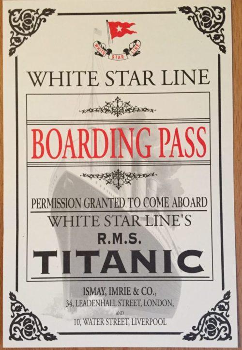 RMS Titanic ticket Luxor, Las Vegas