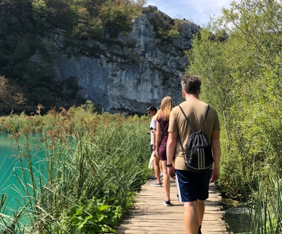 boardwalk crossing in Plitvice Lakes National Park, Croatia