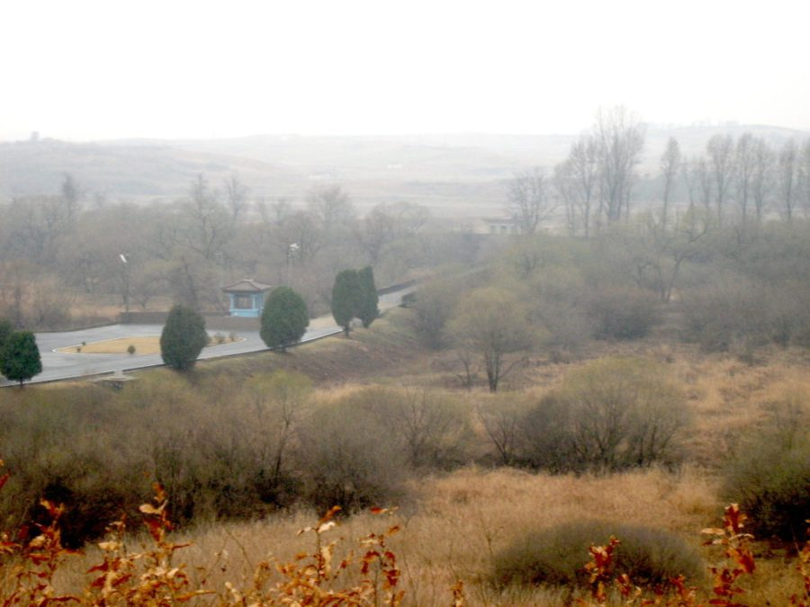 North Korean countryside at DMZ