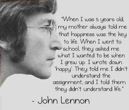 John Lennon on happiness