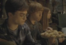 Harry, Ron and Ginny with Mince Pies
