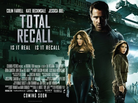 Total Recall UK Quad Poster
