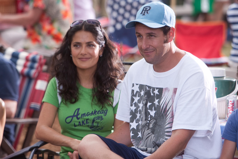 Grown Ups - Salma Hayek and Adam Sandler - HeyUGuys