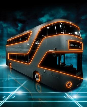Tron Legacy Fan Art - London Bus