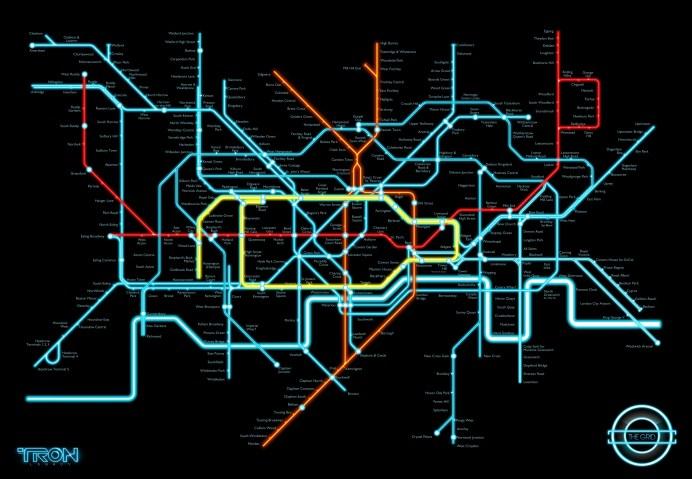 Tron Legacy Fan Art - Tube Map