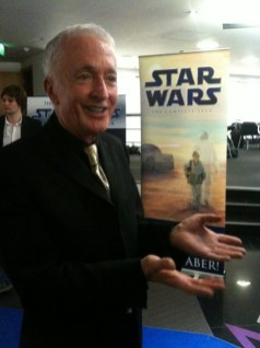 Anthony Daniels Before Lauching the Lightsaber