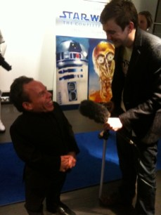 Warwick Davis at the BT Tower