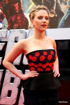 The Avengers European Premiere - Scarlett Johansson (Black Widow)