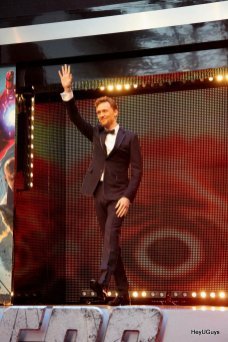 The Avengers European Premiere - Tom Hiddleston (Loki)