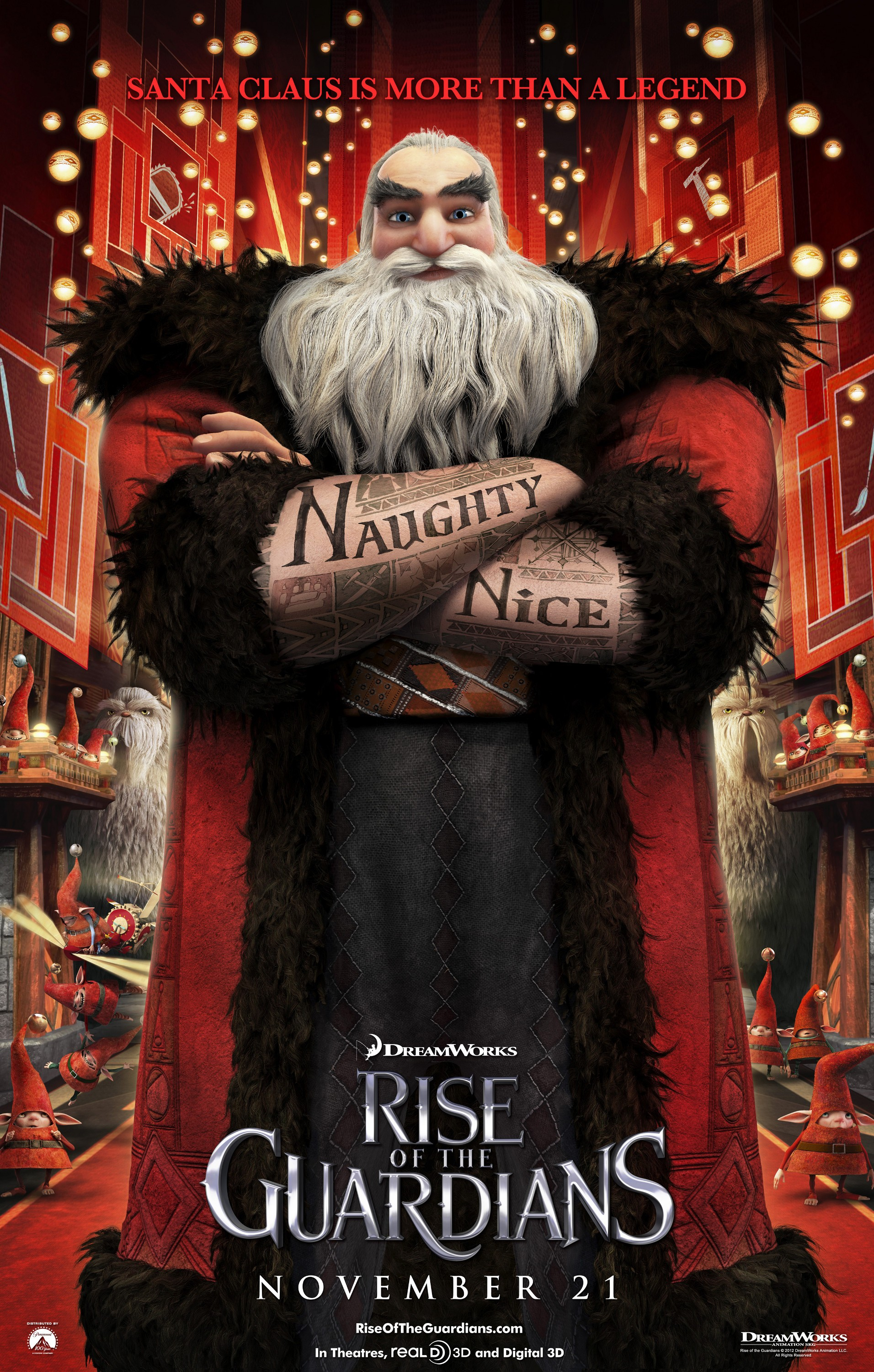 Rise Of The Guardians Character Posters