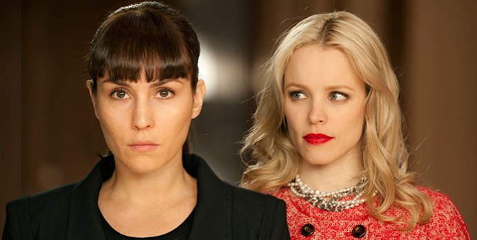 Noomi Rapace and Rachel McAdams in Passion