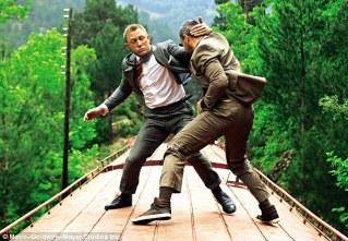 Daniel Craig and Ola Rapace in Skyfall