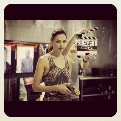 Gal Gadot on set of Fast and Furious 6