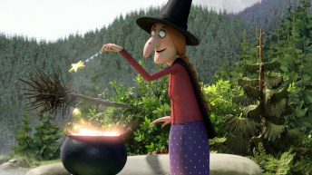 Room on the Broom 18_Making potion by lake